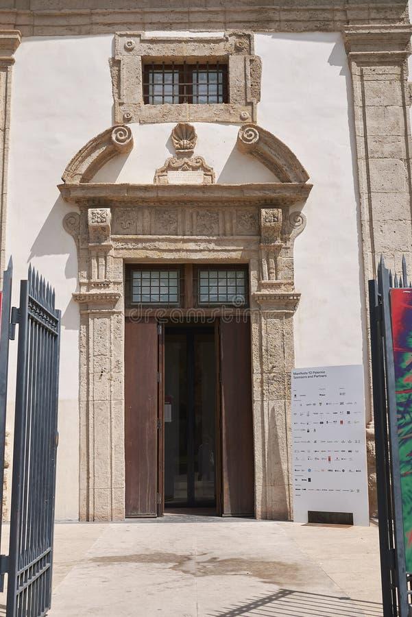 Vista de Saint Euno e da igreja de Giuliano de Saint fotografia de stock