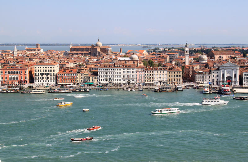 Vista de San Giorgio Maggiore sobre Veneza, Italy imagens de stock
