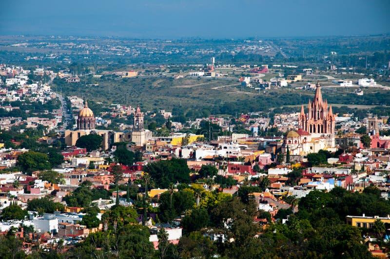 Vista de San Miguel de Allende fotos de stock royalty free