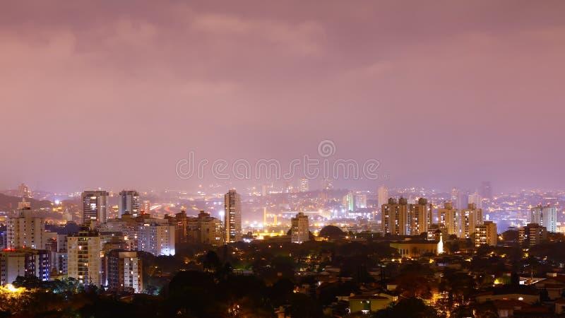 Vista de Sao Paulo imagem de stock