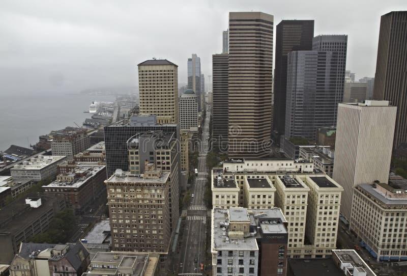 Vista de Seattle céntrica imagenes de archivo