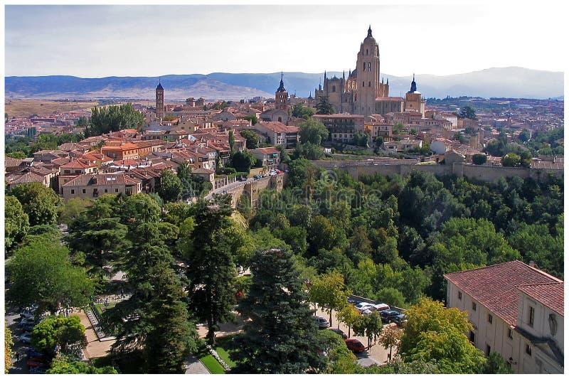 Download Vista de Segovia foto de archivo. Imagen de ciudad, castillo - 175756