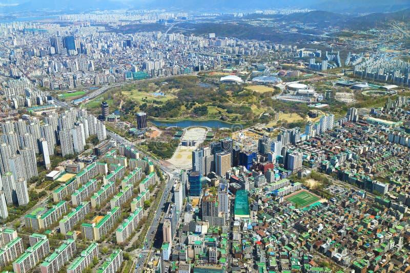Vista de Seoul, Coreia imagem de stock