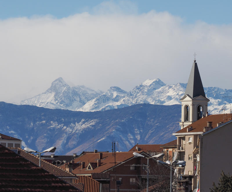 Vista de Settimo, Itália fotos de stock
