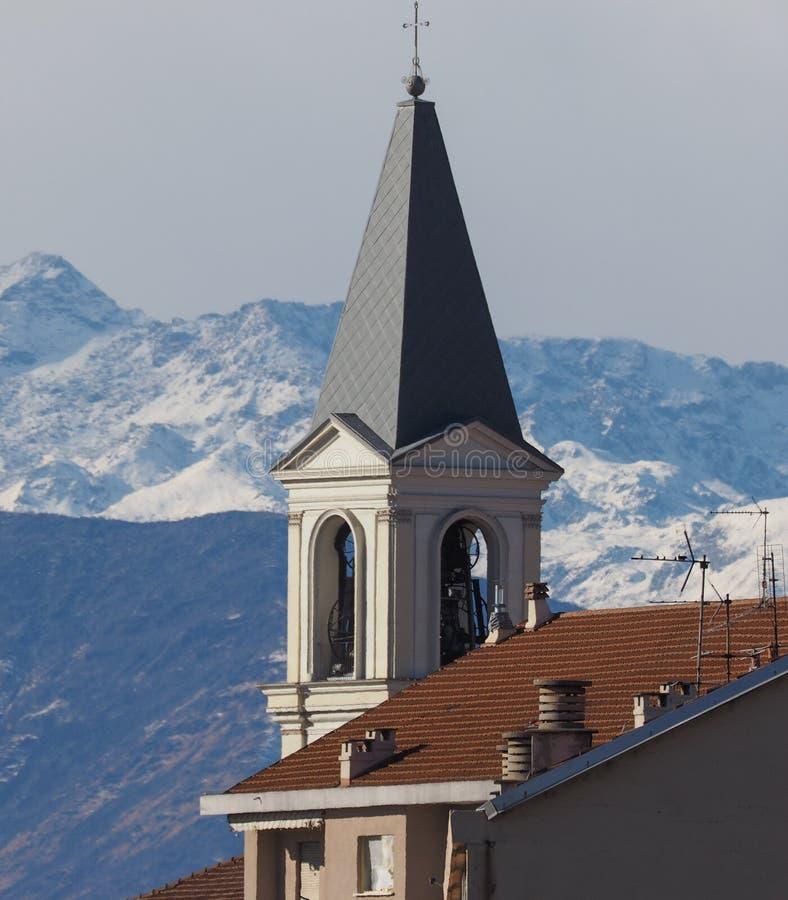 Vista de Settimo, Itália imagem de stock