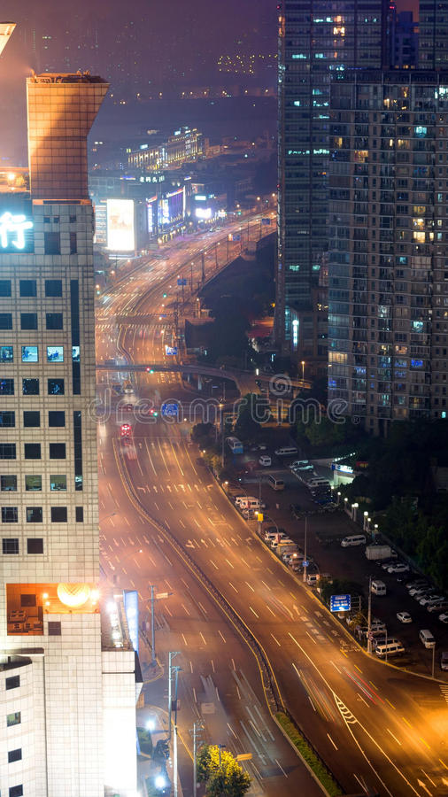 Vista de Shangai imagenes de archivo