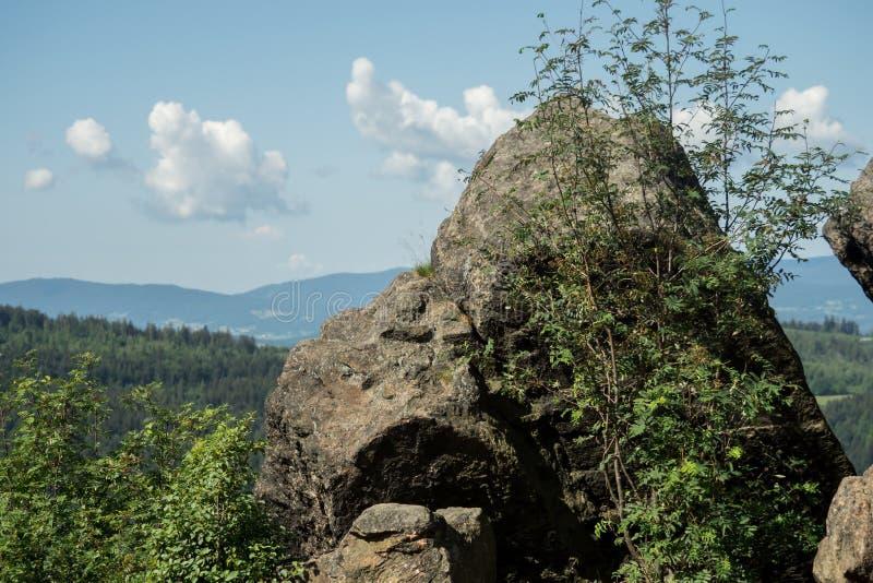 Vista de Silberberg a Bodenmais em Baviera fotos de stock