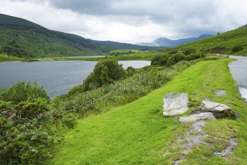 Vista de Snowdon de uma distância foto de stock