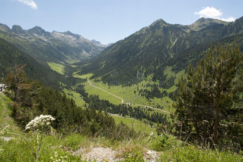 Vista de spain Pyrenees imagens de stock