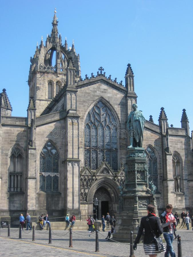 Vista de St Giles Cathedral, em Edimburgo fotos de stock