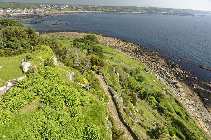 Vista de St Michaels Mount Cornwall England fotos de stock
