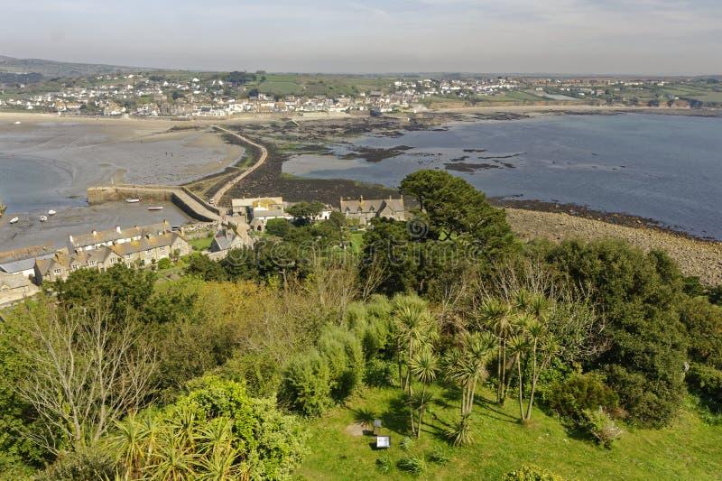 Vista de St Michaels Mount Cornwall England fotografia de stock