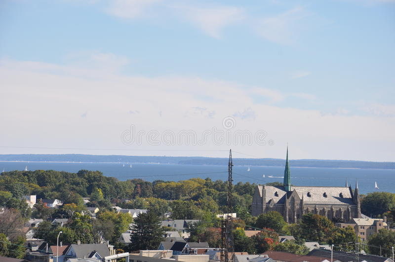 Vista de Stamford, Connecticut imagem de stock royalty free
