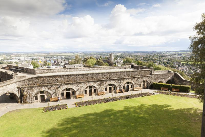 Vista de Stirling Caslte Scotland fotos de stock