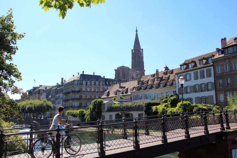 Vista de Strasbourg fotos de stock