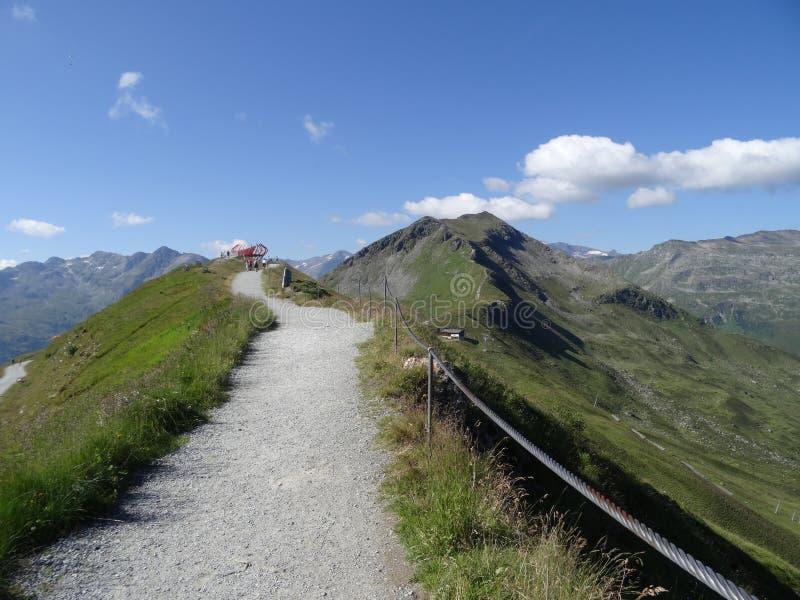 Vista de Stubnerkogel, Gastein mau, Almorama, Salzburg, Áustria fotografia de stock royalty free