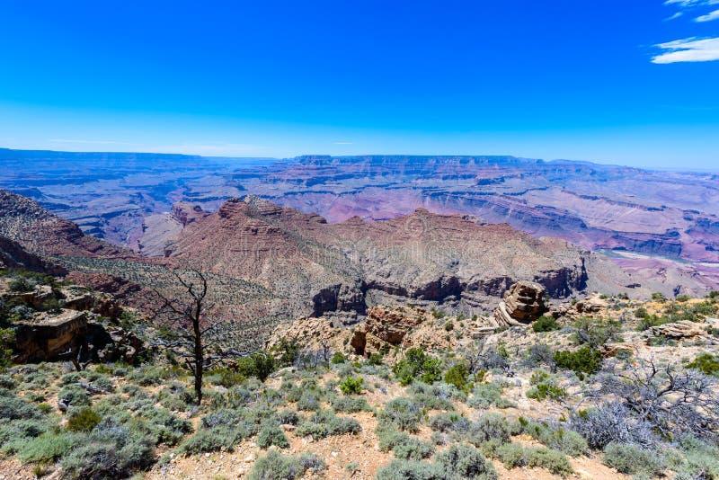 Vista de surpresa da torre de vigia da opinião do deserto do ponto em Grand Canyon, o Arizona de Lipan, EUA fotos de stock royalty free