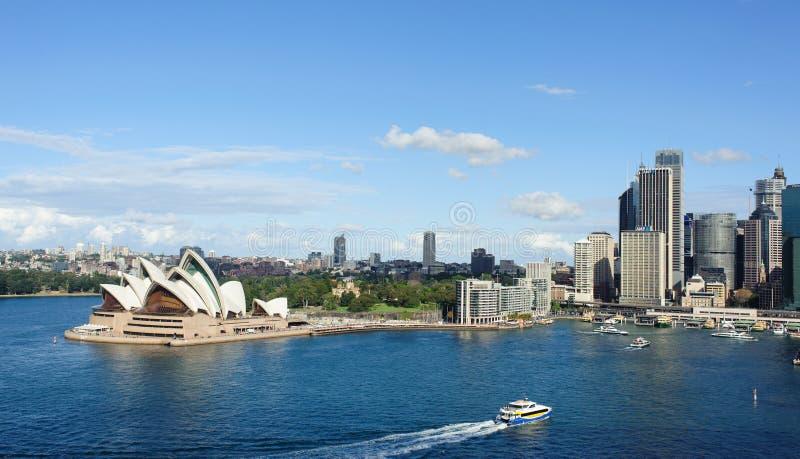Vista de Sydney e do porto fotos de stock royalty free
