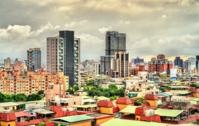 Vista de Taipei, la capital de Taiwán fotos de archivo libres de regalías