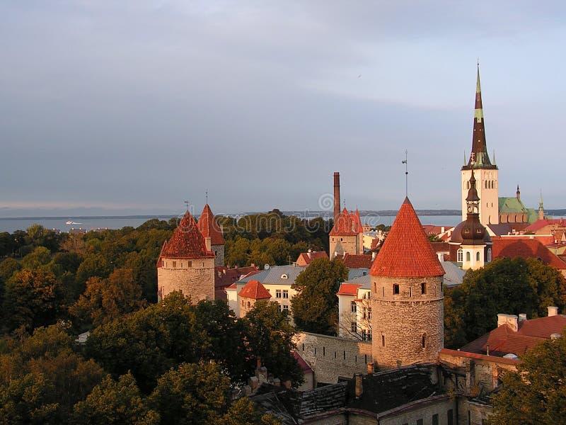 Vista de Tallinn imágenes de archivo libres de regalías