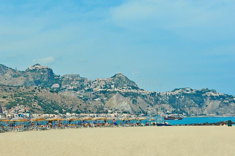 Vista de Taormina fotografia de stock royalty free