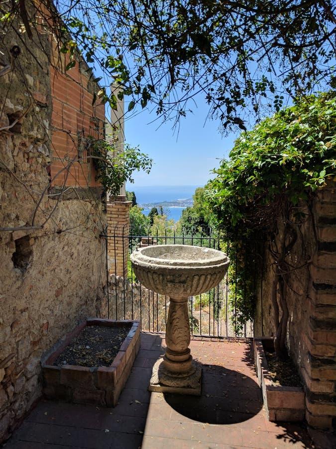 Vista de Taormina fotografia de stock