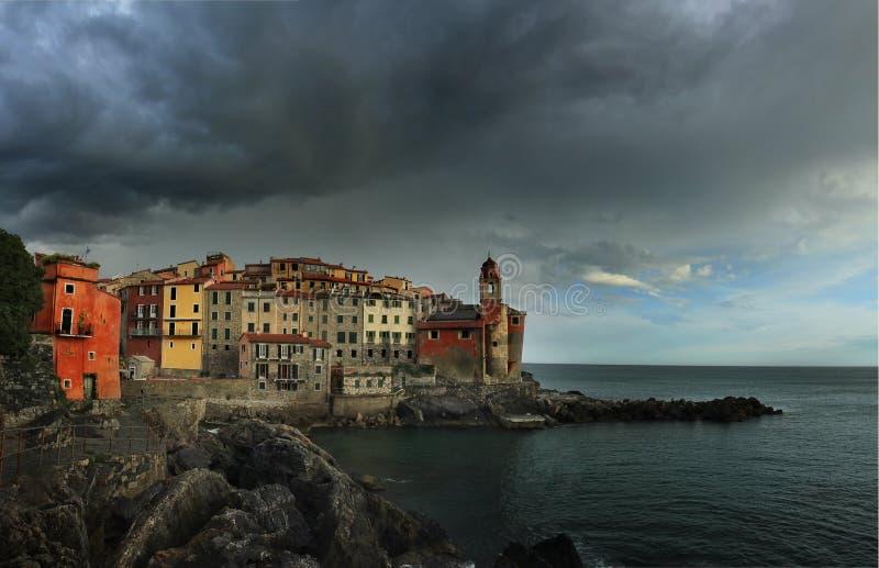 Vista de Tellaro, Liguria fotos de archivo libres de regalías
