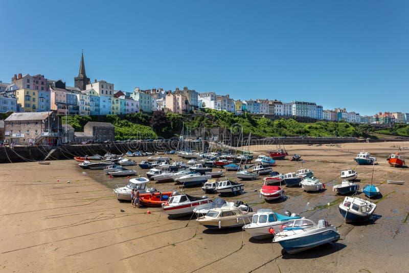Vista de Tenby, País de Gales Reino Unido imagen de archivo