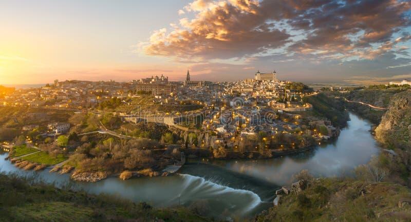 Vista de Toledo fotografía de archivo