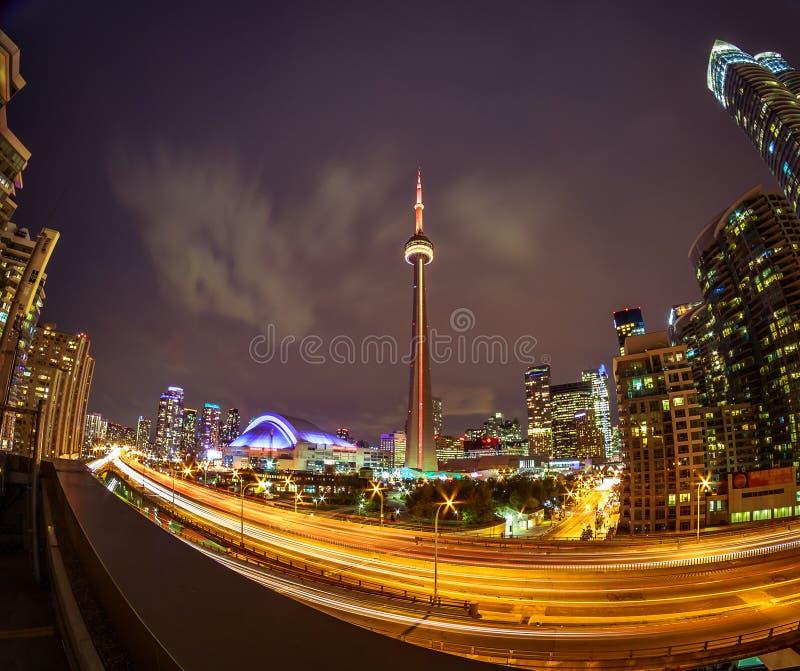 Vista de Toronto céntrica fotografía de archivo