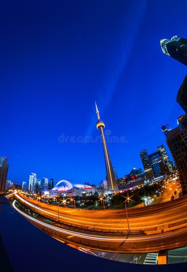 Vista de Toronto céntrica fotos de archivo