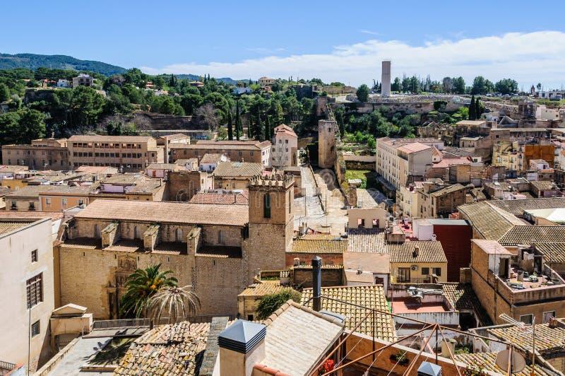 Vista de Tortosa del castillo, España imágenes de archivo libres de regalías
