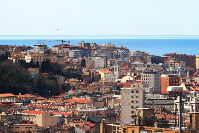Vista de Trieste foto de stock royalty free