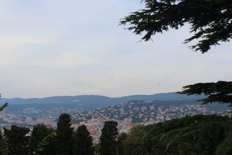 A vista de Trieste imagem de stock
