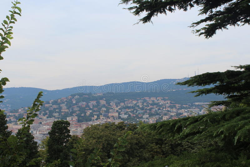 A vista de Trieste imagem de stock royalty free
