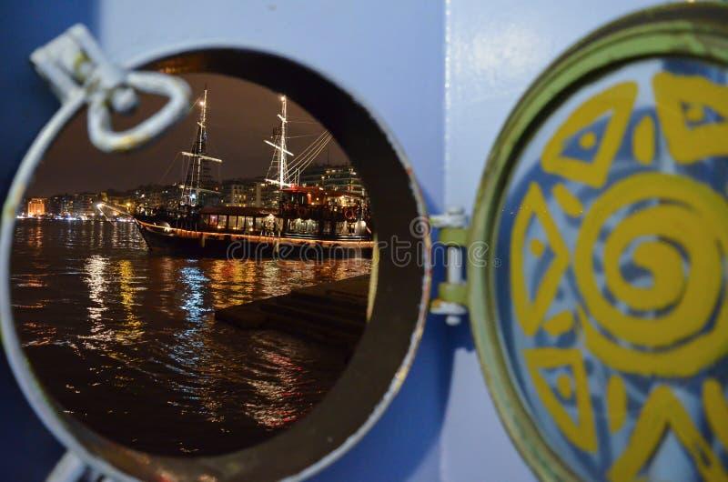 Vista de um barco de um barco fotos de stock royalty free