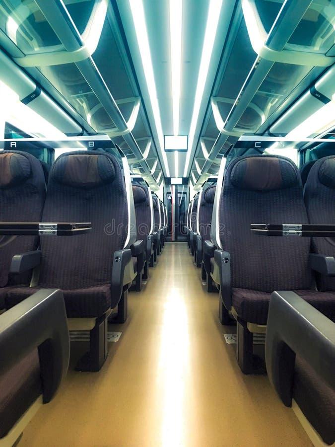 Vista de um táxi do trem do interior fotos de stock royalty free