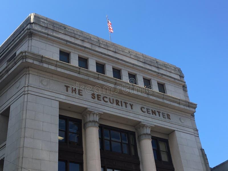 A vista de uma construção chamou o centro da segurança fotos de stock