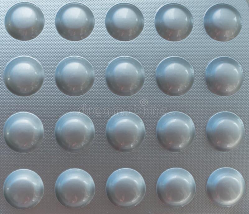Vista de uma droga, comprimidos ou pacote ou bolha da medicamentação imagens de stock royalty free
