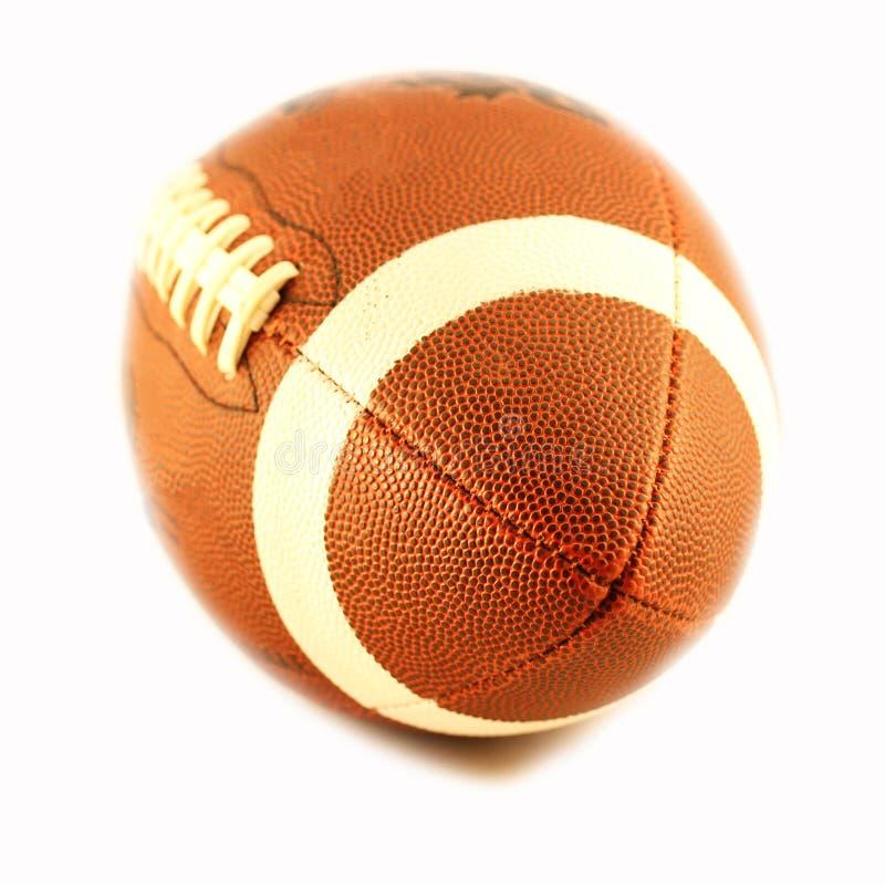 Vista de uma esfera para o futebol americano imagem de stock