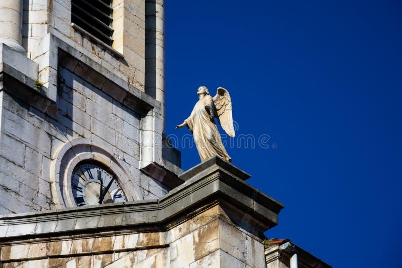 Vista de uma estátua em Santa Lucia Church Iglesia de Santa Lucia fotografia de stock royalty free