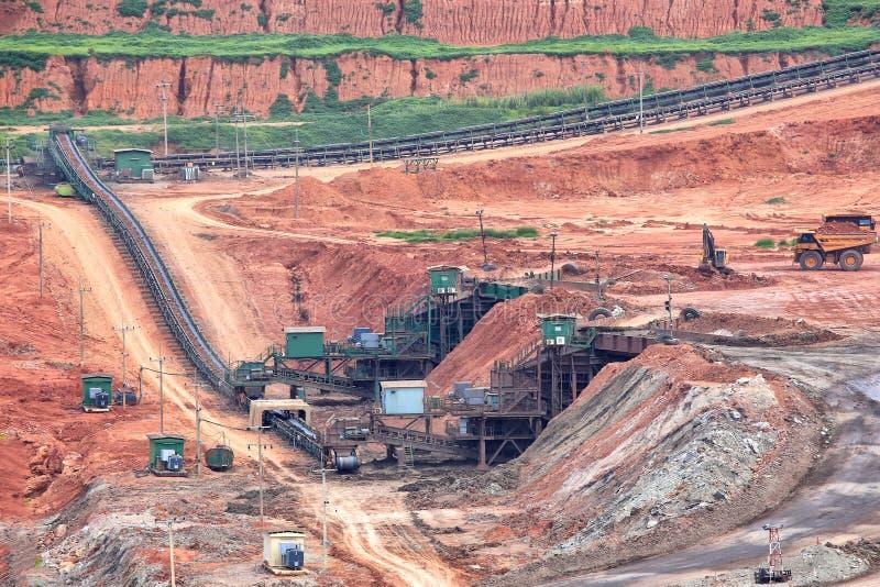 Vista de uma mina de carvão fotos de stock