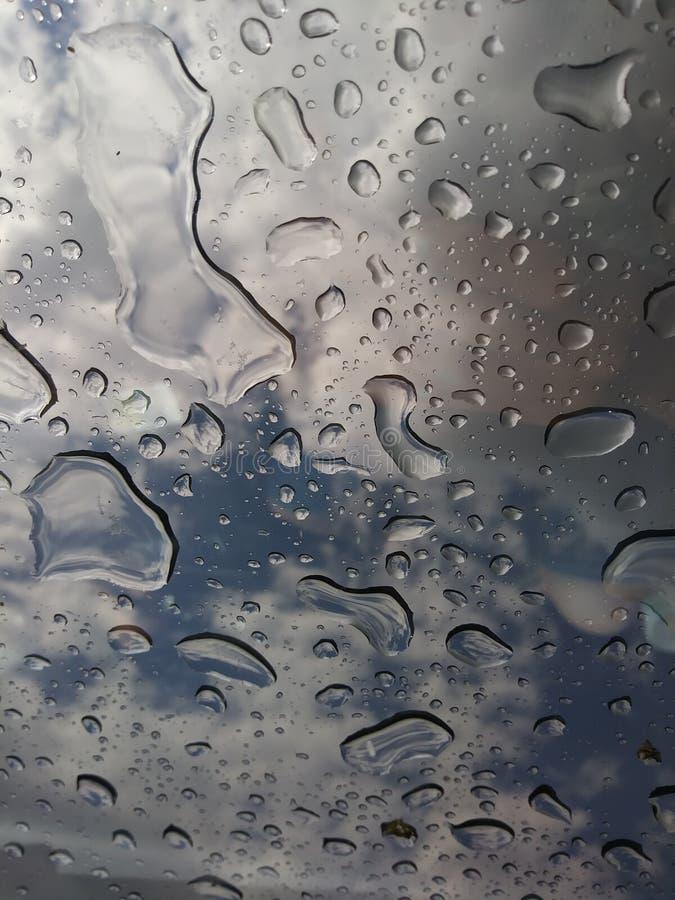 Vista de uma T-parte superior em uma tempestade fotografia de stock