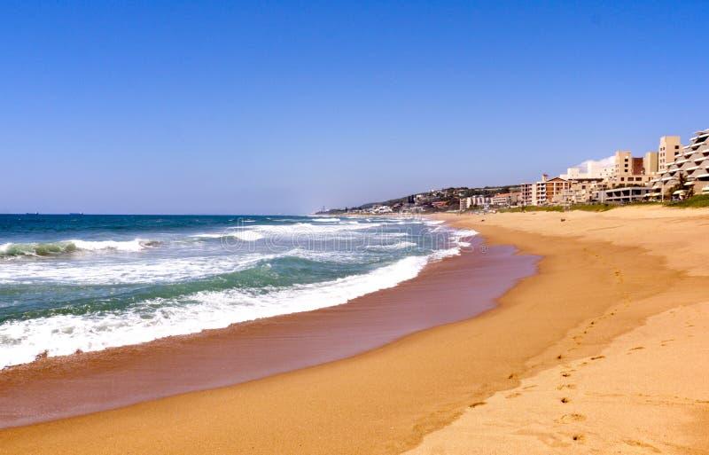 Vista de Umdloti Beacfront em Durban África do Sul fotografia de stock royalty free