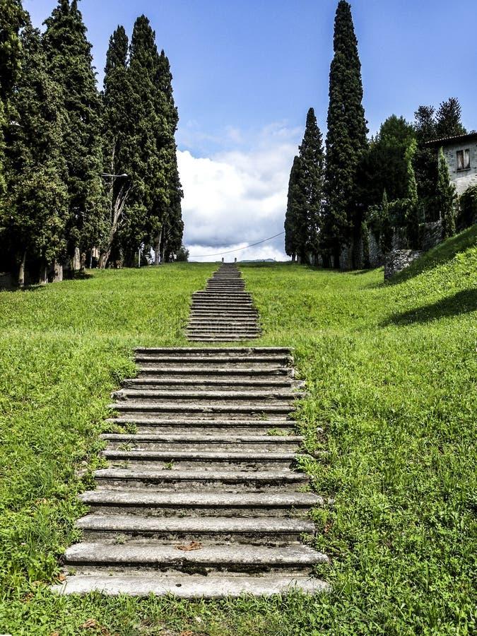 Vista de un scalator en el sur de Italia imágenes de archivo libres de regalías