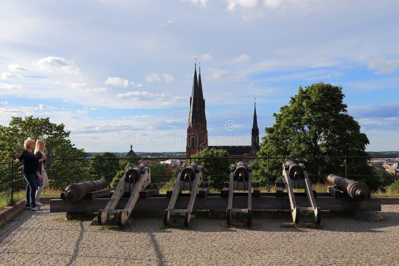 Vista de Upsália, Suécia fotos de stock royalty free