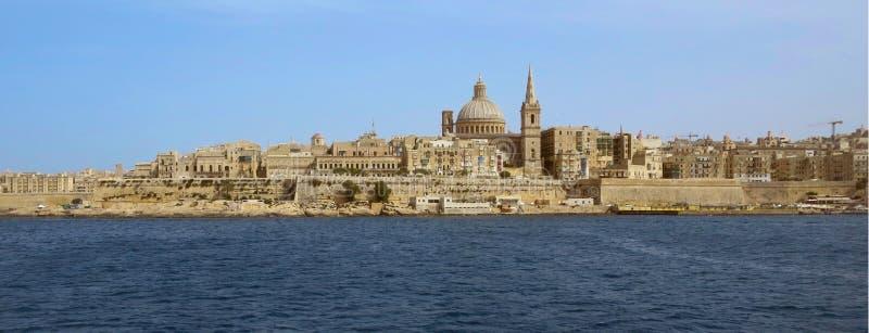 Vista de Valletta, a capital de Malta imagens de stock royalty free