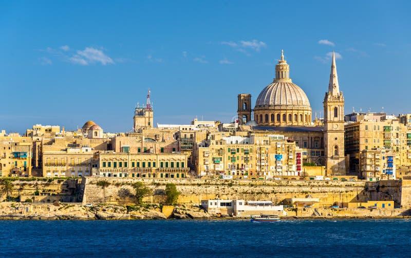Vista de Valletta, Malta fotografia de stock royalty free
