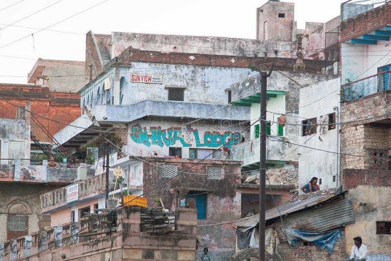 Vista de Varanasi Ghats fotografia de stock royalty free