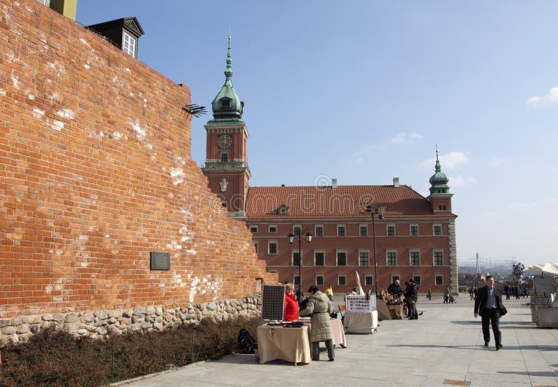 Vista de Varsóvia velha fotografia de stock